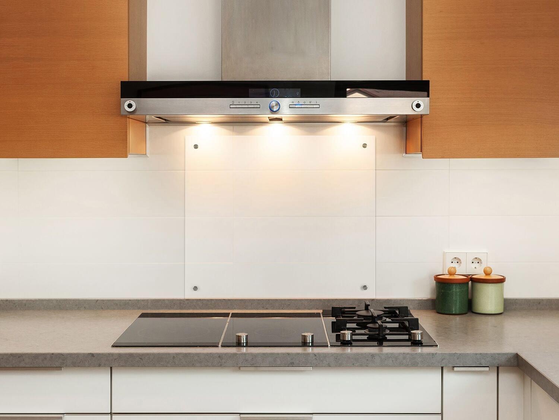 Küchenrückwand (70x40 cm, Klarglas) Sicherheitsglas Klarglas m. Nano ...