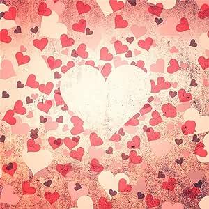 Yongfoto 2x2m Foto Hintergrund Valentinstag Rote Herzen Kamera