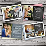 Personalised Wedding Thank You Cards with Photo + Free Coloured Envelopes. 33 Designs to Choose from and Free delivery.