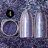 PhantomSky Unghie Scintillio Arte Glitter Olografico Laser Brillante Magico Specchio Cromo Polvere di Chiodo Manicure Pigmento Unghie Tips Decorazione #4