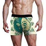 NaiiaN Boxer Briefs for Men Kids Youth Underwear Art Abstract Vintage Sun Moon Soft Comfortable Bulge Pouch Underpants