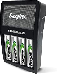 Energizer Rechargeable AA and AAA Battery Charger with 4 AA NiMH Rechargeable Batteries