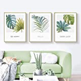 Green Plant Leaf Picture Wall Art Canvas Painting Nordic Posters and Prints Home Decoration Wall Pictures for Living Room Dec