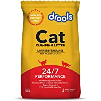 Drools Clumping Lavender Fragrance Cat Litter (for Multiple Cats), 10kg