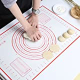 GWHOLE Large Silicone Baking Mat Non Stick Dough Mat with Measurement for Pastry Rolling and Other Recipes & Desserts
