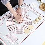 Gwhole Tappetino da Forno in Silicone, Tappetino da Cucina Grande Stuoia di Rolling della Pasticceria del Silicone, 60x40 cm