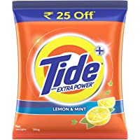 Tide Plus Extra Power Detergent Washing Powder - 2 kg (Lemon and Mint, Rupees 25 Off)