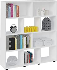 Artely Book Shelf, White, 109 x 91 x 25 cm