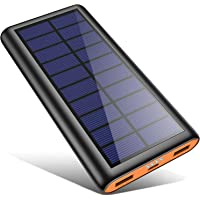 Solar Powerbank 26800mAh, HETP -Orange Neuestes Solarladegerät Externer Akku Tragbares Ladegerät Akkupack mit 2…