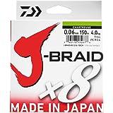 Daiwa J-Braid 8 Braid 300m dunkelgrün - geflochtene Angelschnur