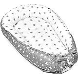 nid bébé chaud - nid câlin nid bébé nouveau-né nid bébé hiver/automne cocon nid (Gris et blanc avec motif étoile, 90 x…