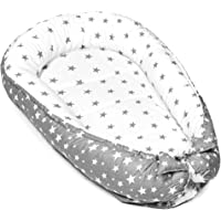 Baby nest Sleep Pod – Portable Bed for Baby Newborn Grey White Stars Double Sided Lounger
