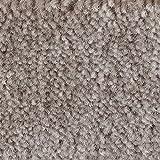 Teppichboden Auslegware | Velours gemustert | 400 und 500 cm Breite | grau braun | Meterware, verschiedene Größen | Größe: 1 Muster