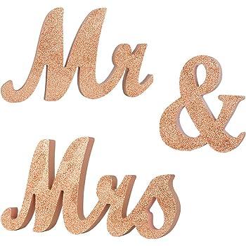 Serwoo H 15cm Mr Mrs Holz Buchstaben Hochzeitsdeko Tisch Mr Und