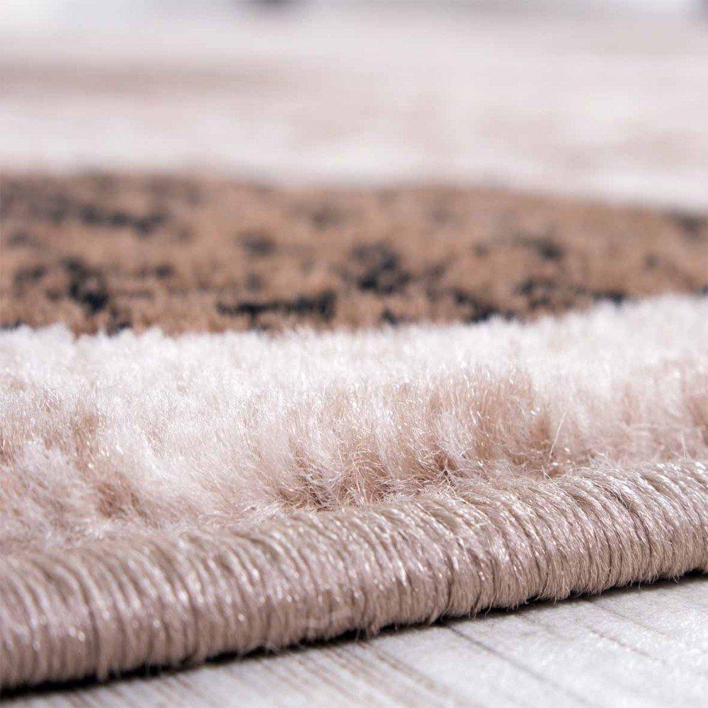 Designer Teppich Wohnzimmer Retro Muster In Braun Beige Preishammer Grsse160x220 Cm Amazonde Kche Haushalt