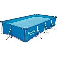 Bestway Steel Pro Frame Pool ohne Pumpe, viereckig, Stahlrahmenpool, blau