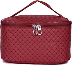 MPK PERFECT Women's Pu Leather Cosmetic Bag (Maroon)