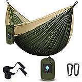 ERUW Camping hangmat, draagbare parachute hangmatten voor outdoor wandelen reizen backpacken - 210D nylon hangmat schommel vo