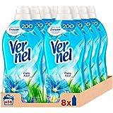 Vernel Ammorbidente concentrato per la biancheria, cielo blu, confezione da 8 x 57D, totale 456 lavaggi (10,4 l)
