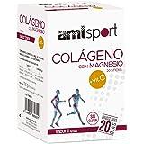 AMLsport - Colágeno con magnesio + VIT C – 20 sticks (sabor fresa). Articulaciones fuertes. Regenerador de tejidos con coláge