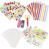 YOTINO Kit de Album de Fotos de Bricolaje, DIY Accesorios Decorativos, Conjunto de Pegatinas de Color, Cintas de Encaje, Cint