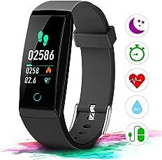 Winisok Fitness Armband mit Pulsmesser Farbdisplay IP67, Fitness Tracker mit Herzfrequenz Wasserdicht Schwimmen Smart Armband Pedometer Kompatibel mit iOS Android APP auf Deutsch
