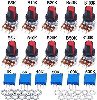 Lorenlli 3590 10 Turn Potentiometer 2k Ohm Wirewound Multiturn Adjustable Resistor Precision with Rotary Dial Knob 6mm Shaft