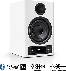 Nubert nuPro X-3000 RC Regallautsprecher   Bluetooth Lautsprecher aptX HD   Lautsprecher Verbindung kabellos High Res   Schreibtischlautsprecher für Homeoffice   Kompaktlautsprecher Weiß   1 Stück
