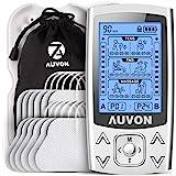 AUVON 3-en-1 Electroestimulador muscular de 24 modos, con función TENS, EMS y masaje, para aliviar el dolor muscular y fortal