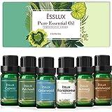 Aceites Esenciales Naturales, ESSLUX Amaderado Aceites Esenciales para Humidificador Difusor Natural Puro, Ciprés, Cedro, Pac