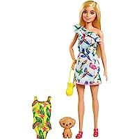 Barbie Famille l'Anniversaire Perdu de Chelsea coffret poupée blonde et son chiot, accessoires de voyage inclus, jouet…
