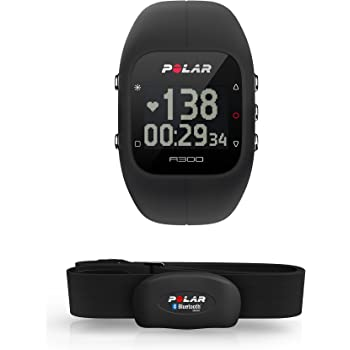 Polar A300 Activity Tracker Monitoraggio Attività Fisica con Fascia Cardio Bluetooth Smart, Taglia Unica Regolabile, Nero