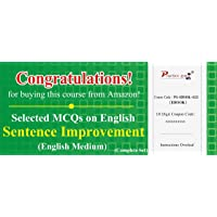 Practice Guru Selected MCQs on English: Sentence Improvement - Complete Set (Activation Key Card)