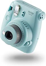 Fujifilm instax Mini 9 Camera with 10 Shots & 1 frame - Ice Blue