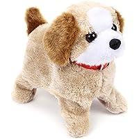 Koshiya Enterprise Barking, Waging Tail, Walking and Jumping Puppy Baby Toy, Battery Operated Back Flip Jumping Dog with…