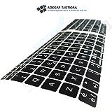 AdesiviTastiera.it - Pegatinas teclado italiano Apple Mac Book Air/Pro - Negro