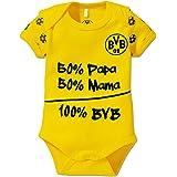 BVB kinderbabybody, geel/zwart