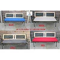 2 Seater 250 GSM +22D Foam Waterproof Outdoor Garden Swing Bench Cushion Set 4 Sizes & 4 Colours (108 x 45 x 5cm, Beige)