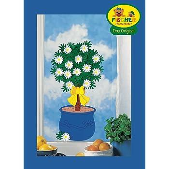 68 x 22 cm//zum Selberbasteln//Basteln mit Papier und Pappe Fischer Fensterbild KAFFEE-KR/ÄNZCHEN//Bastelpackung