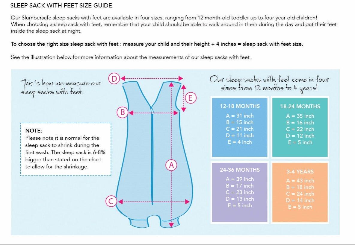 Saco de repetición Saco de dormir con patas para el verano en 0.5tog–Rayas azules–Disponible en 5Varias Tallas)