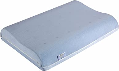 "The White Willow Standard Contour Air Sense Ventilated Memory Foam Pillow- 23"" x 12"" x 4"", Off White"