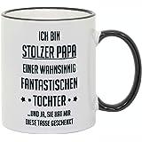 """Tazza con scritta: """"Ich bin stolzer Papa"""". Come regalo per compleanno, festa del papà o Natale."""