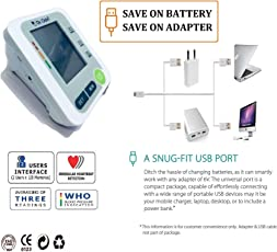 Dr.Odin BP Monitor Work on ANY ANDROID CHARGER (1+1 WARRANTY) AND 2 USER INTERFACE
