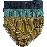 LSHARON Silk Men's Sexy 100% Mulberry Silk Briefs Lingerie Underwear 3 Pairs in one Economic Pack