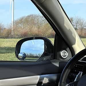 Proplus 750612 Toter Winkel Spiegel 2 Stück Zusatzspiegel Rund Randlos Verstellbar Konvex Ø50mm Durchmesser Mit 3m Klebeband Auto Weitwinkel Spiegel Totwinkel Spiegel Auto