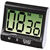 Xavax digital köksklocka med timer- och stopp-urfunktion, svart, 1 st