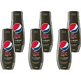 Sodastream Lot de 6 Concentrés Pepsi Max – Sans Sucres – 100% du Goût Original – Avec Bouchon Doseur – 6 x 440 ml