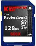 Komputerbay 128Go SDXC Secure Digital Extended Capacity Speed Class 10 UHS-I 600X Ultra Carte 60Mo/s haute vitesse Mémoire Flash 90 Mo Ecrire/Lire le 128Go