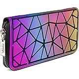 Tikea Geometrische Geldbörse - Damen Fashion Holographische Clutch Wallet Kunstleder Leuchtende Handytasche Portable Handtasc