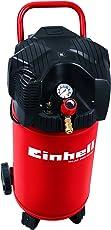 Einhell Kompressor TH-AC 200/30 OF (1,1 kW, 30 L, Ansaugleistung 200 l/min, 8 bar, ölfrei, stehende platzsparende Bauweise)